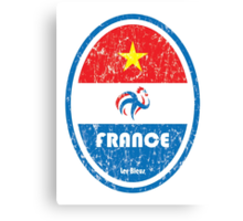 World Cup Football 7/8 - France (Distressed) Canvas Print