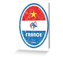 World Cup Football 7/8 - France (Distressed) Greeting Card