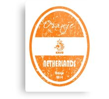 World Cup Football - Netherlands (Distressed) Metal Print