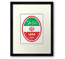 World Cup Football - Iran Framed Print
