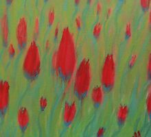 Twisted Tulips by Beverley  Johnston