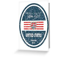 World Cup Football - United States Greeting Card