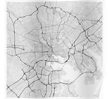 Baltimore, USA Map. (Black on white) Poster