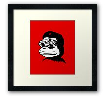 Pepe Guevara Sad Frog Meme Framed Print
