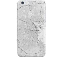 Boston, USA Map. (Black on white) iPhone Case/Skin