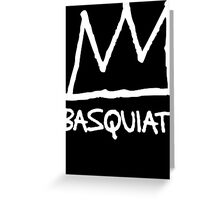 Basquiat Crown Greeting Card