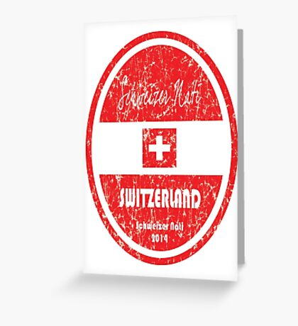 World Cup Football - Switzerland Greeting Card