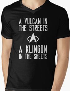 A vulcan in the streets a klingon in the sheets Mens V-Neck T-Shirt