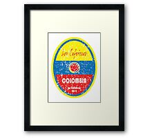World Cup Football - Colombia Framed Print