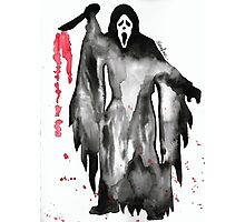 Scream Ghostface Watercolor Photographic Print