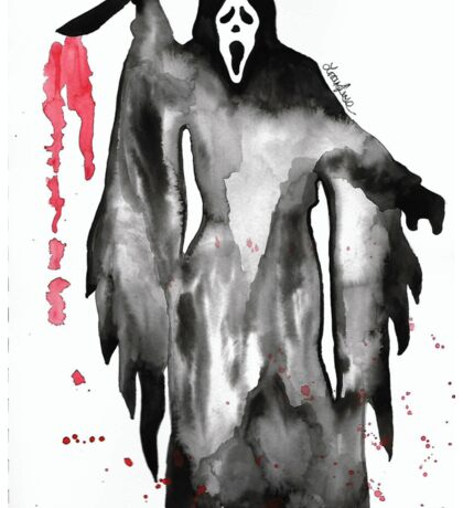 Scream Ghostface Watercolor Sticker