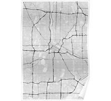 Minneapolis, USA Map. (Black on white) Poster