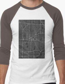 Minneapolis, USA Map. (White on black) Men's Baseball ¾ T-Shirt