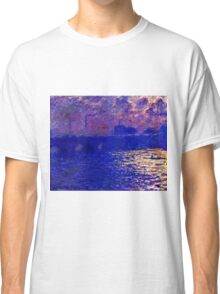 Claude Monet - Waterloo Bridge, Sunlight Effect ( 1900 (dated 1903))  Classic T-Shirt