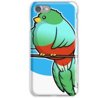 Cute Resplendent Quetzal iPhone Case/Skin