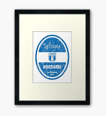 World Cup Football - Honduras Framed Print