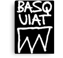 Basquiat Upside Canvas Print