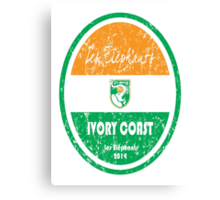 World Cup Football - Ivory Coast Canvas Print