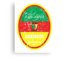 World Cup Football - Cameroon Canvas Print