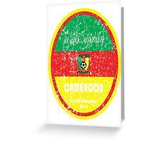 World Cup Football - Cameroon Greeting Card
