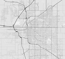 Lincoln, USA Map. (Black on white) by Graphical-Maps