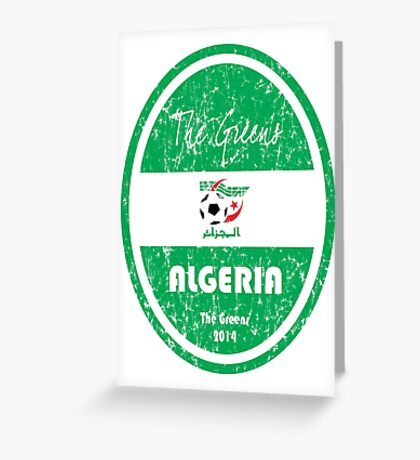 World Cup Football - Algeria Greeting Card