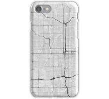 Omaha, USA Map. (Black on white) iPhone Case/Skin