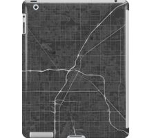 Las Vegas, USA Map. (White on black) iPad Case/Skin