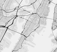 Jersey City, USA Map. (Black on white) by Graphical-Maps