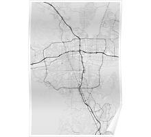 Reno, USA Map. (Black on white) Poster