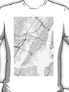 Jersey City, USA Map. (Black on white) T-Shirt