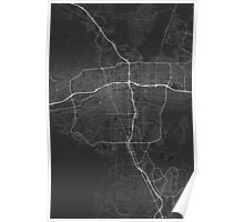 Reno, USA Map. (White on black) Poster