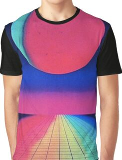 Vaporwave sunset rainbow Graphic T-Shirt