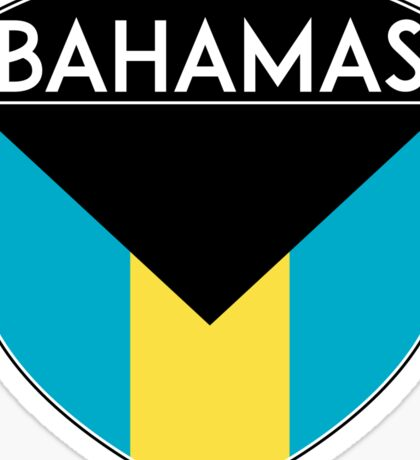 BAHAMAS FLAG CREST BADGE EMBLEM Sticker