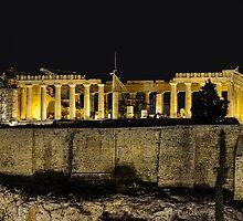 Golden Parthenon by george papapostolou