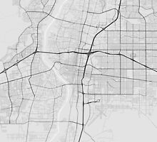 Albuquerque, USA Map. (Black on white) by Graphical-Maps
