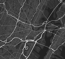 Newark, USA Map. (White on black) by Graphical-Maps
