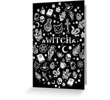 WITCH PATTERN 2 Greeting Card