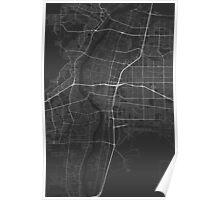 Albuquerque, USA Map. (White on black) Poster