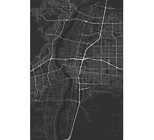 Albuquerque, USA Map. (White on black) Photographic Print