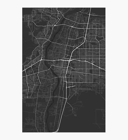 Albuquerque, USA Map. (White on black) Photographic Print
