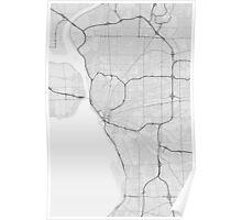 Buffalo, USA Map. (Black on white) Poster