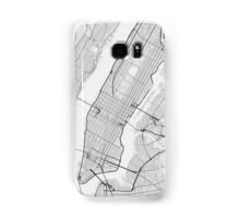 Manhattan, New York, USA Map. (Black on white) Samsung Galaxy Case/Skin
