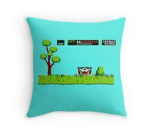 NES duck hunt dog game Throw Pillow