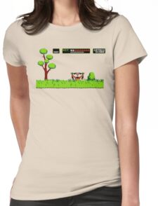 NES duck hunt dog game Womens Fitted T-Shirt