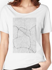 Durham, USA Map. (Black on white) Women's Relaxed Fit T-Shirt