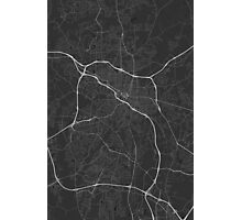 Durham, USA Map. (White on black) Photographic Print
