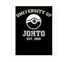 University of Johto - White Font Art Print