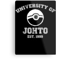 University of Johto - White Font Metal Print