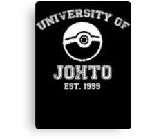 University of Johto - White Font Canvas Print